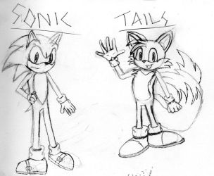 Sonic and Tails Practice by Yoshifan1993