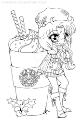YamBucks Chibi Lineart :: COLORING CONTEST:: by YamPuff