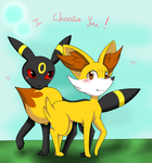 Pokemon love~ Fennekin x Umbreon by Anonymous---Lucifer