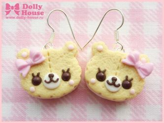 Biscuit Bears Earrings by Dolly House by SweetDollyHouse
