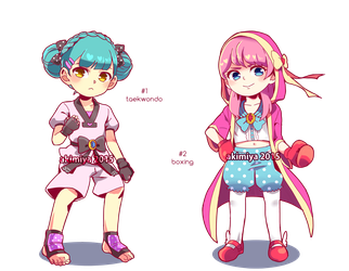 magical girls x martial arts adoptables (OPEN) by Akimiya