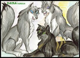 wolves by TigresaDaina