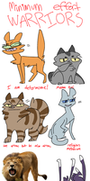 low quality warrior cats by Ghobsmacka