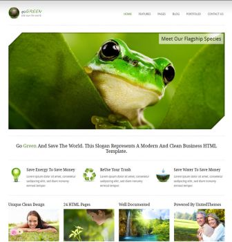 Go Green - Modern Business HTM by UnitedThemes
