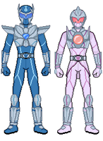 Kamen Riders Diamond and Pearl by Toshi-san
