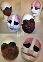 Cosplay work - Wolf and Hoxton mask PAYDAY by Emme-Gray