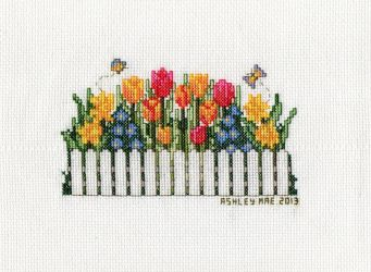Floral Delight - Picket Fence by pinkythepink