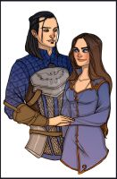 Commission: Nathaniel Howe and Rosaleen Cousland by Enife