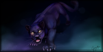 Panther painting by LittleRavine