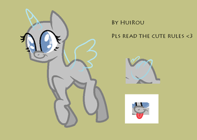 MLP cute pony base 1 (by Hui Rou) by HuiRou