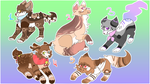 10 to 30 point adoptables Closed by Umbrella-cat