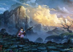 Mountain Trail at Dusk by ChaoyuanXu