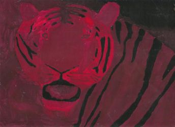 Tiger Shade Painting by KyynNightbow