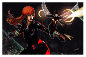 Widow and the wasp by Peter-v-Nguyen