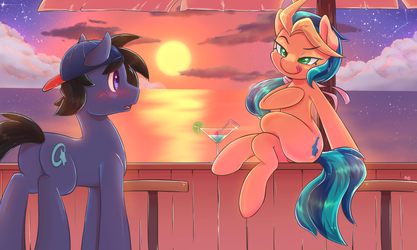 [Commission] Sunset Beauty by tikrs007