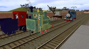 Thomas Meets Ivor And Casey Jr by EngineNumber14