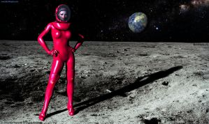 The Girl in the Red Spacesuit #2 by BenMargolis