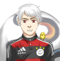 Sketch/WIP -Prussia Football Worldcup 2014 by Loroqueen