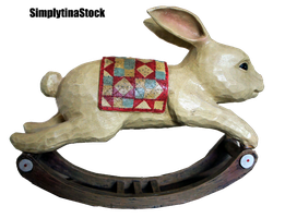 Rabbit Rocking Wooden PNG by Simplytina