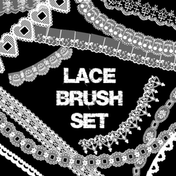 Lace Brush Set by CourtHouse