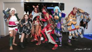 League of Legend team cosplay by CandyLou974