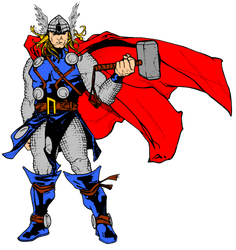 Thor and hammer by timothygreenII color by matt2106