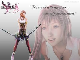 FF13-2 Serah Wallpaper by cdh1994