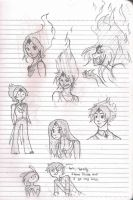 Flame Princess Doodlies by YayImBored