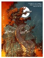 Hellboy by Keucha - colors by Tursy
