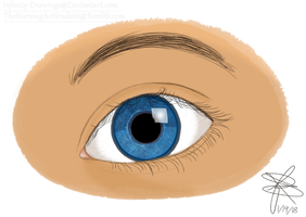 Realistic eye by Infinity-Drawings