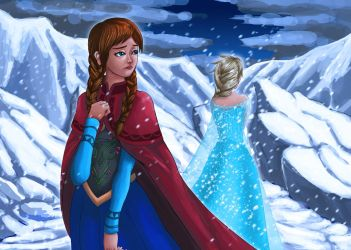 Anna and Elsa by rithgroove