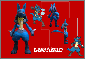 Lucario Papercraft by riolushinx