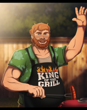 Dream Daddy - Grillmaster Brian by SabraeTrash