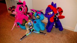 Monster High Ponies by Catzilerella