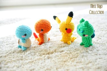 Starters Pokemons by MissBajoCollection