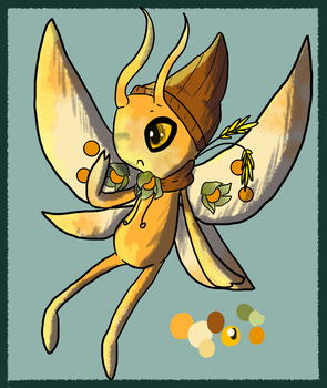 {Pocket} Harvest Sprite Celebi - Caped Gooseberry by NoodleMimi
