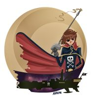 Tribute to Harlock by Andres-Iles