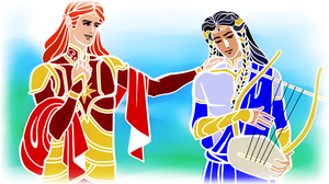 Maedhros and Fingon_Greek Mythology Style by EPH-SAN1634