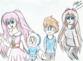 Commission: A Group of Friends by luigisister