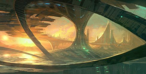 Speedpaint - Bridge cities by ANTIFAN-REAL