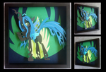 [Available] : Queen Chrysalis Shadowbox by The-Paper-Pony