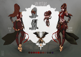 [WoW] Velenthia ref sheet CM by Ryarenpaw