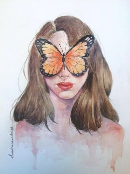 Butterfly girl by Fayland