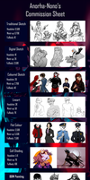 Commission List Updated by Anorha-Nono