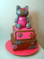 Steampunk Hello Kitty Cake by stacylambert