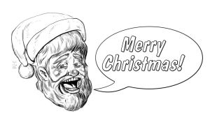 Merry Christmas 12/24/2012 Daily Draw -Line by LineDetail