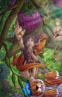 Adam, Eve, and the Serpent by Godsartist