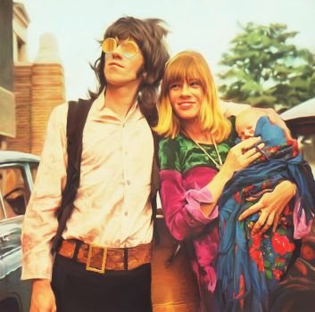 Keith Richards And Anita Pallenberg by petnick