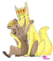 King and Queen by Straw-Bear