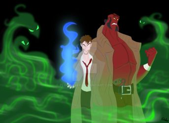 Hellboy and Constantine by Plugin848y